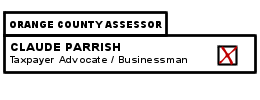 Check the box for Claude Parrish for Orange County Assessor